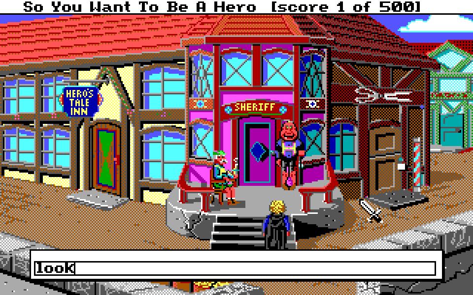 Hero's Quest opening scene