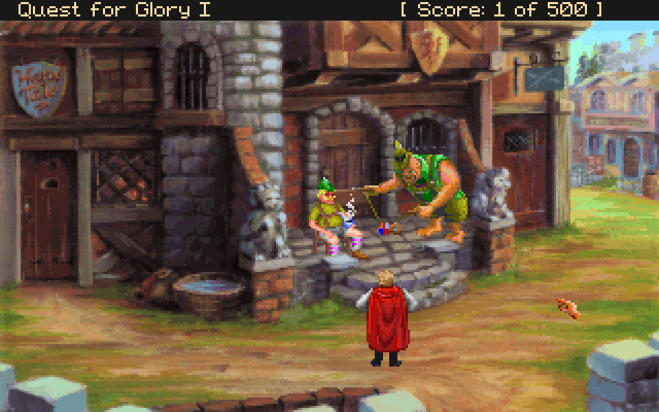 Opening scene of Quest for Glory (VGA version)