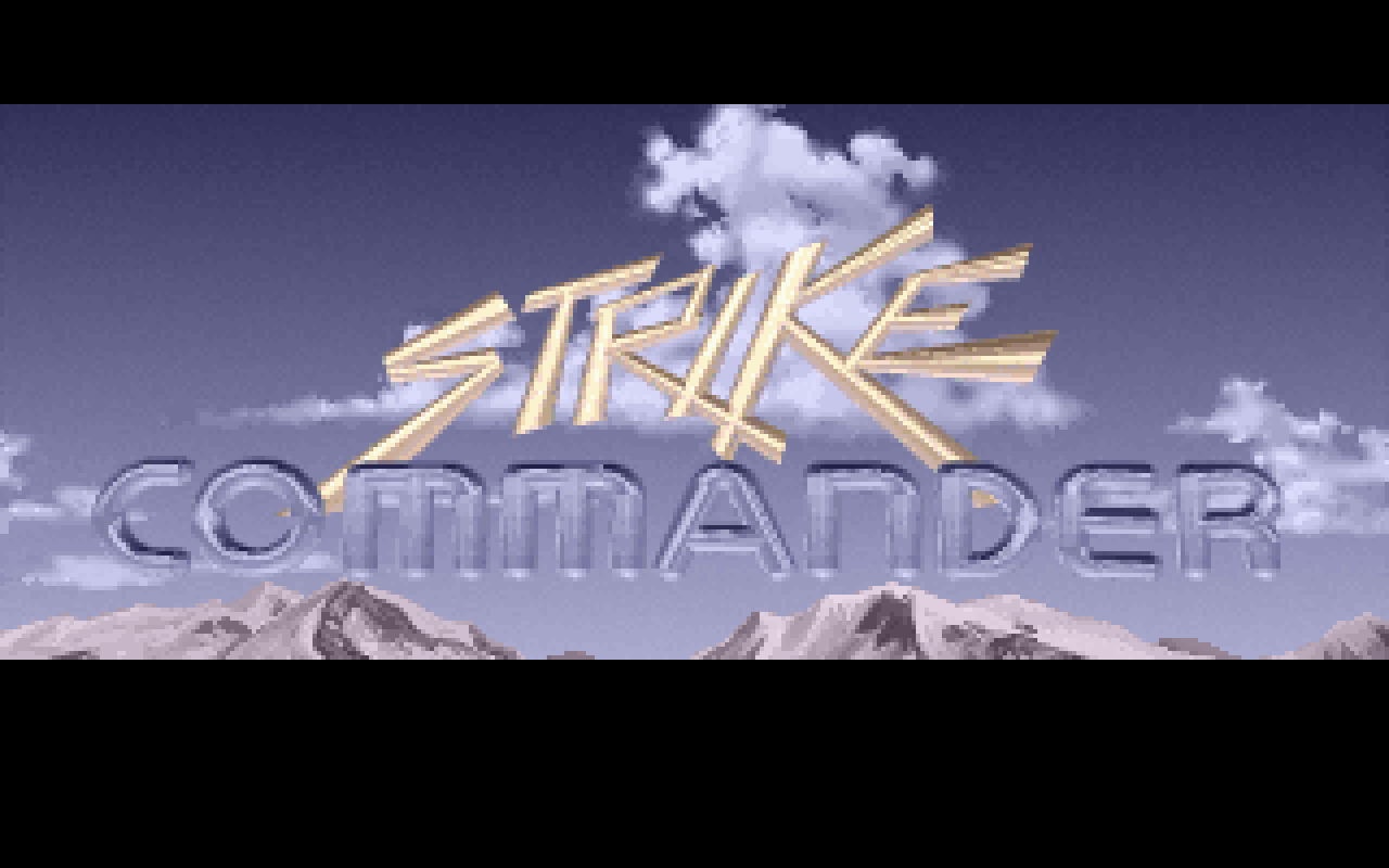 The Strike Commander title screen
