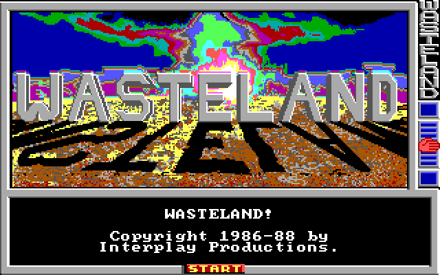 The Wasteland title screen