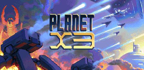 Planet X3 title screen